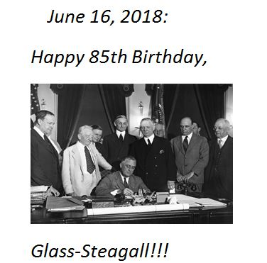 FDR Signs Glass-Steagall on June 16, 1933